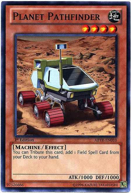 YuGiOh Trading Card Game Abyss Rising Common Planet Pathfinder ABYR-EN010