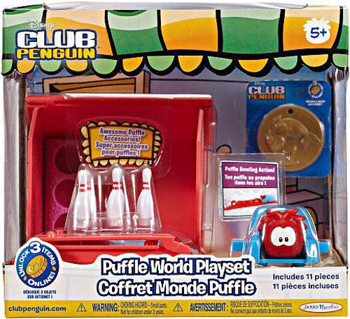 Club Penguin Puffle World Bowling Alley 1-Inch Playset