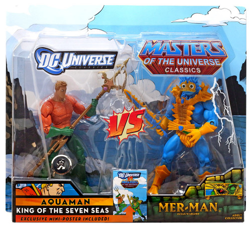 DC / Masters of the Universe Classics Club Eternia Aquaman Vs. Mer-Man Exclusive Action Figures