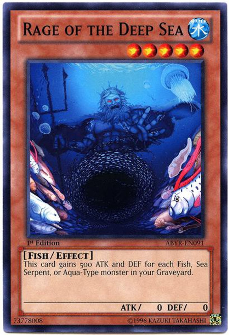 YuGiOh Zexal Trading Card Game Abyss Rising Common Rage of Deep Sea ABYR-EN091