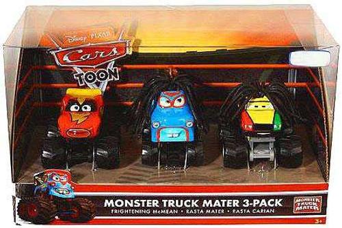 Disney / Pixar Cars Cars Toon Multi-Packs Monster Truck Mater Exclusive Diecast Car Set [Set #2]