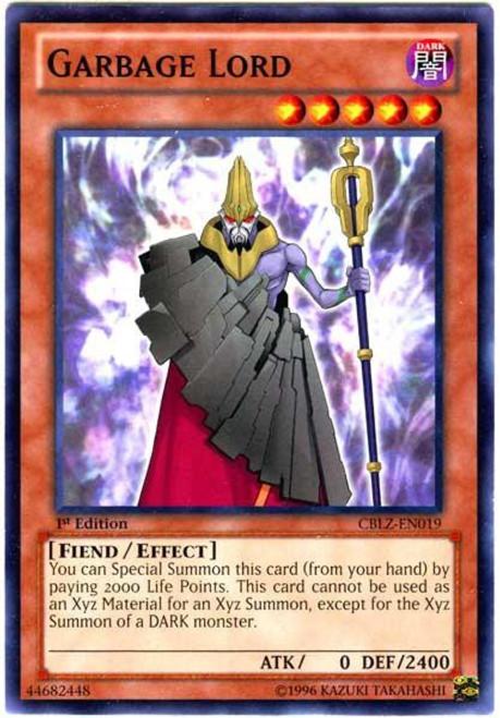 YuGiOh Trading Card Game Cosmo Blazer Common Garbage Lord CBLZ-EN019