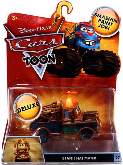 Disney / Pixar Cars Cars Toon Deluxe Oversized Beanie Hat Mater Diecast Car