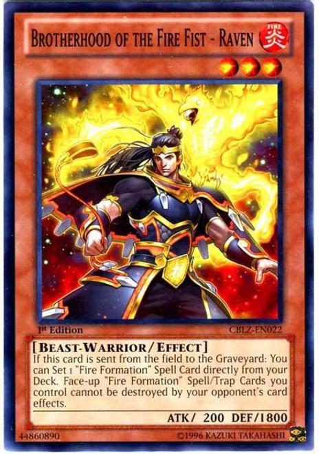YuGiOh Trading Card Game Cosmo Blazer Common Brotherhood of the Fire Fist - Raven CBLZ-EN022