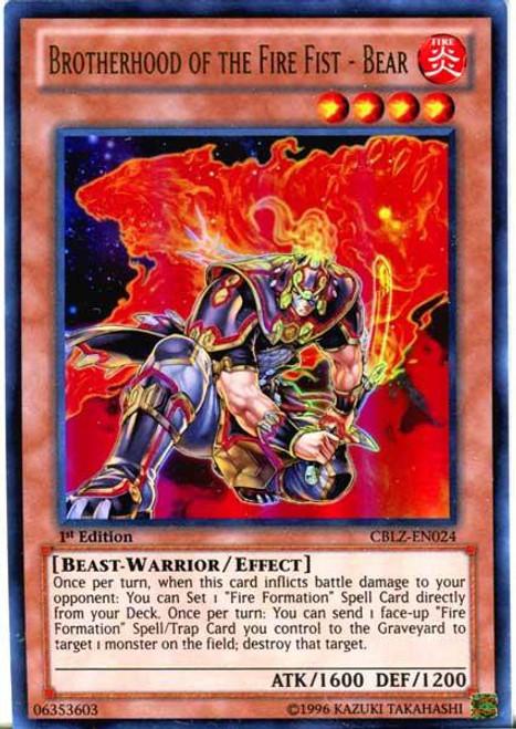 YuGiOh Trading Card Game Cosmo Blazer Ultra Rare Brotherhood of the Fire Fist - Bear CBLZ-EN024