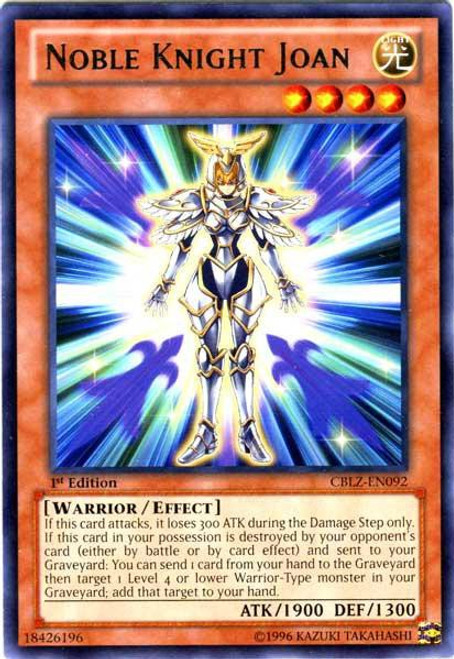 YuGiOh Trading Card Game Cosmo Blazer Rare Noble Knight Joan CBLZ-EN092