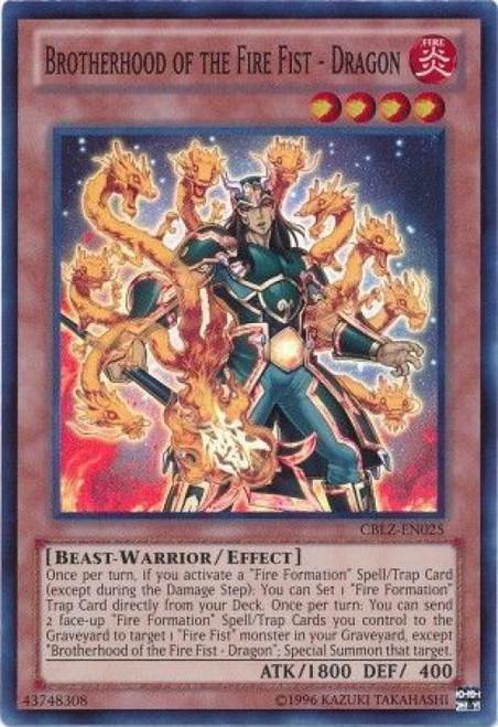 YuGiOh Trading Card Game Cosmo Blazer Super Rare Brotherhood of the Fire Fist - Dragon CBLZ-EN025