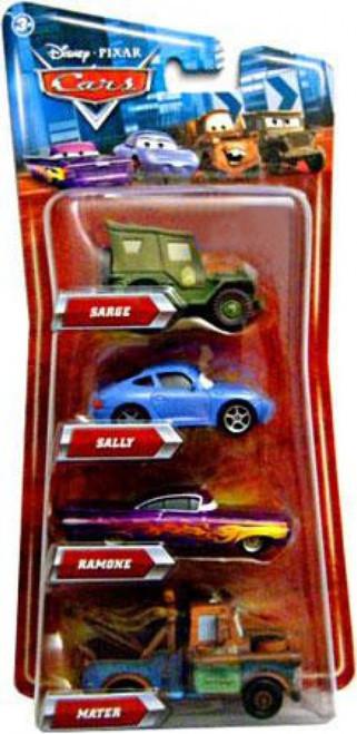Disney / Pixar Cars Multi-Packs Sarge, Ramone, Mater & Sally 4-Pack Exclusive Diecast Car Set
