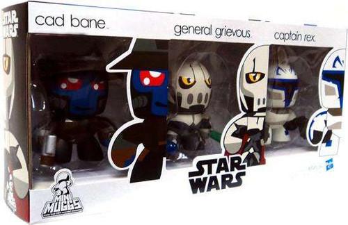 Star Wars The Clone Wars Mini Muggs Cad Bane, General Grievous & Captain Rex Exclusive Vinyl Figure 3-Pack #1