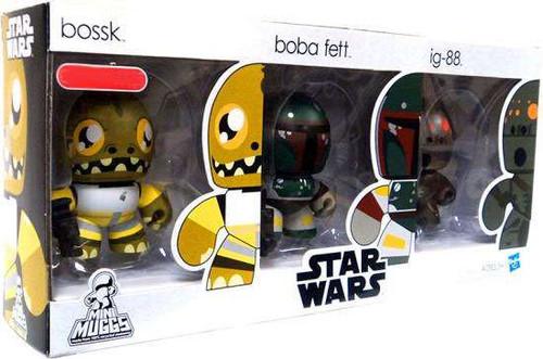 Star Wars The Empire Strikes Back Mini Muggs Bossk, Boba Fett & IG-88 Exclusive Vinyl Figure 3-Pack #3