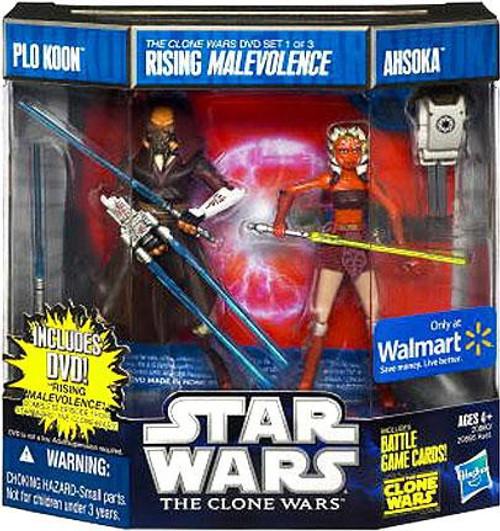 Star Wars The Clone Wars Plo Koon & Ahsoka Exclusive Action Figure DVD 2-Pack #1 [Rising Malevolence]