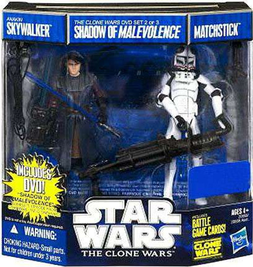 Star Wars The Clone Wars Anakin Skywalker & Matchstick Exclusive Action Figure DVD 2-Pack #2 [Shadow of Malevolence]