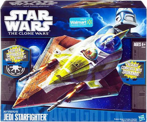 Star Wars The Clone Wars 2010 Kit Fisto's Jedi Starfighter Exclusive 3.75-Inch Vehicle