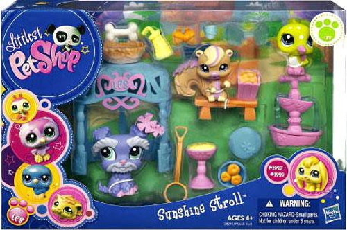 Littlest Pet Shop Sunshine Stroll Playset #1957, 1958, 1959