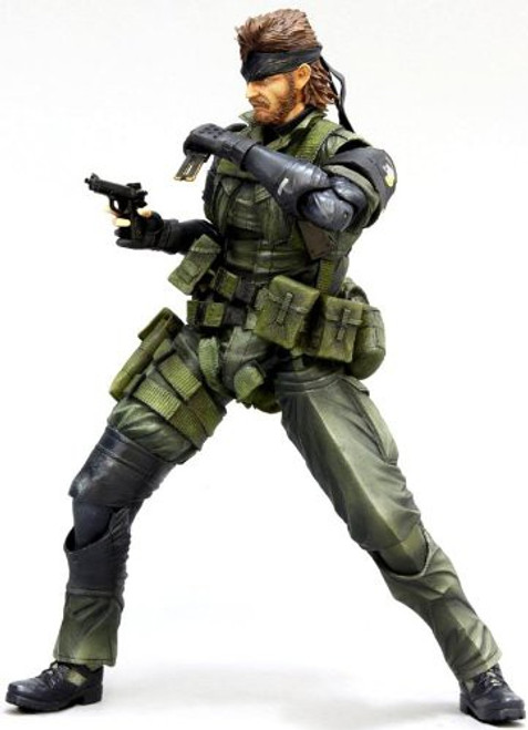 Metal Gear Solid Peace Walker Play Arts Kai Snake Action Figure [Jungle Version]