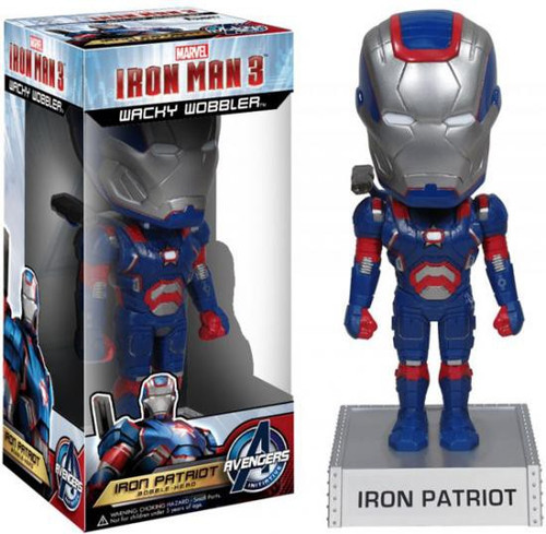 Funko Iron Man 3 Wacky Wobbler Iron Patriot Bobble Head