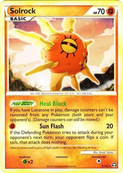 Pokemon HeartGold & Soulsilver Triumphant Rare Holo Solrock #9