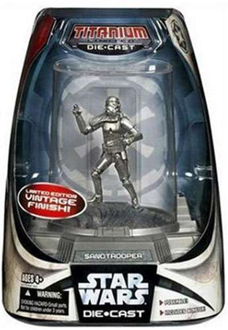Star Wars A New Hope Titanium Series 2007 Sandtrooper Diecast Figure [Vintage Finish]