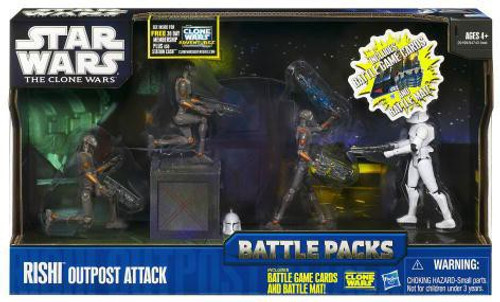 Star Wars The Clone Wars 2011 Battle Packs Rishi Outpost Attack Action Figure Set