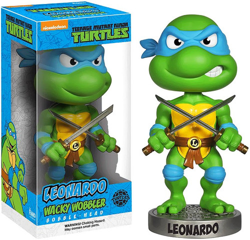 Funko Teenage Mutant Ninja Turtles Wacky Wobbler Leonardo Bobble Head