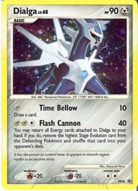Pokemon Diamond & Pearl Promo Rare Holo Dialga DP26 [Oversized]