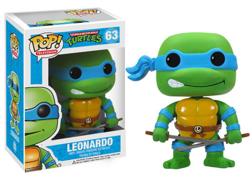Funko Teenage Mutant Ninja Turtles POP! TV Leonardo Vinyl Figure #63