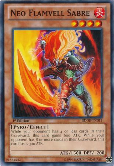 YuGiOh Structure Deck: Onslaught of the Fire Kings Common Neo Flamvell Sabre SDOK-EN011