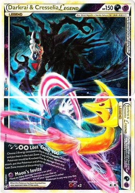 Pokemon HeartGold & Soulsilver Triumphant Ultra Rare Darkrai & Cresselia LEGEND #99 & 100