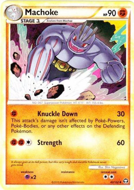 Pokemon HeartGold & Soulsilver Triumphant Uncommon Machoke #40