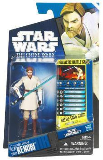 Star Wars The Clone Wars 2011 Obi-Wan Kenobi Action Figure CW40