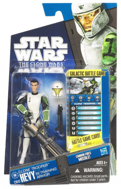 Star Wars The Clone Wars 2011 Clone Trooper Hevy Action Figure CW41 [Training Armor]