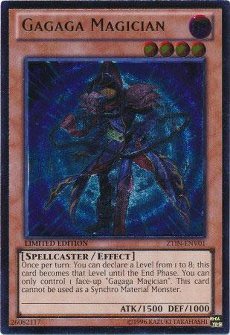 YuGiOh Trading Card Game 2013 Collector Tin Ultimate Rare Gagaga Magician ZTIN-ENV01