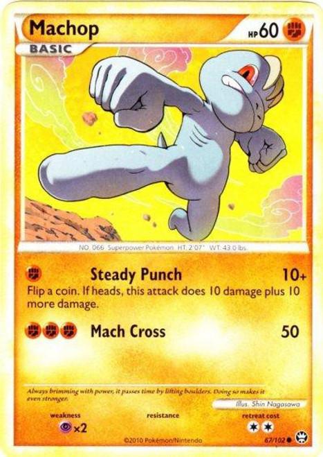 Pokemon HeartGold & Soulsilver Triumphant Common Machop #67