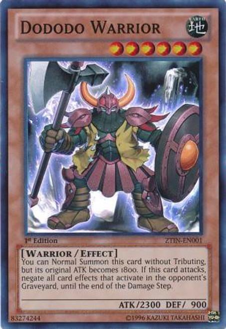 YuGiOh Trading Card Game 2013 Collector Tin Super Rare Dododo Warrior ZTIN-EN001
