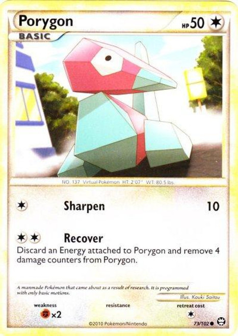 Pokemon HeartGold & Soulsilver Triumphant Common Porygon #73