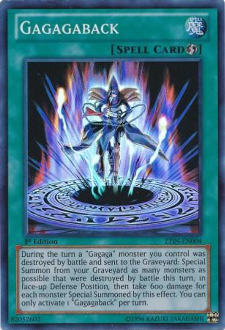 YuGiOh Trading Card Game 2013 Collector Tin Super Rare Gagaga Back ZTIN-EN004