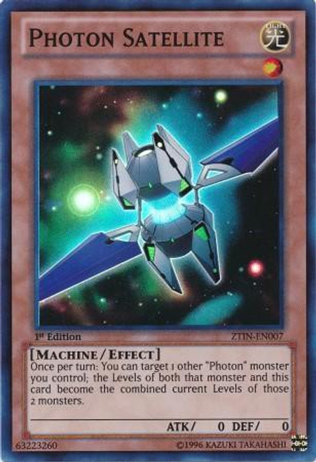 YuGiOh Trading Card Game 2013 Collector Tin Super Rare Photon Satellite ZTIN-EN007