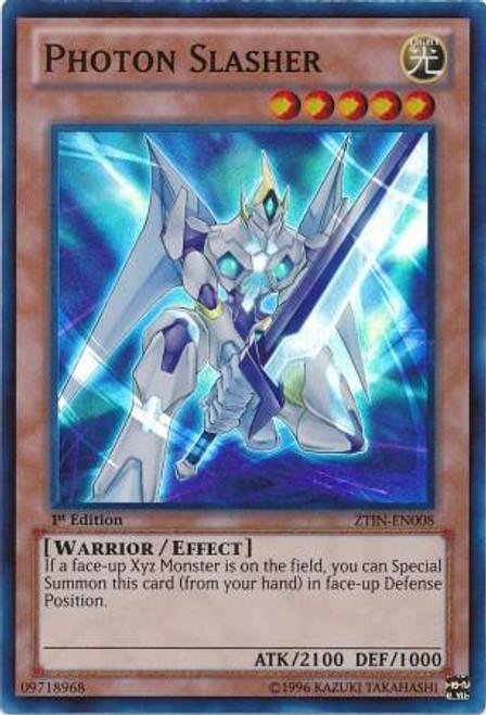YuGiOh Trading Card Game 2013 Collector Tin Super Rare Photon Slasher ZTIN-EN008