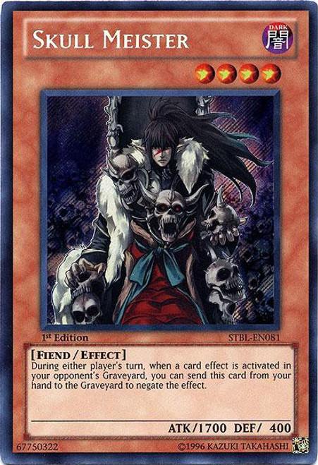 YuGiOh YuGiOh 5D's Starstrike Blast Secret Rare Skull Meister STBL-EN081