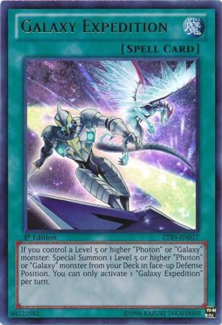 YuGiOh Trading Card Game 2013 Collector Tin Ultra Rare Galaxy Expedition ZTIN-EN017