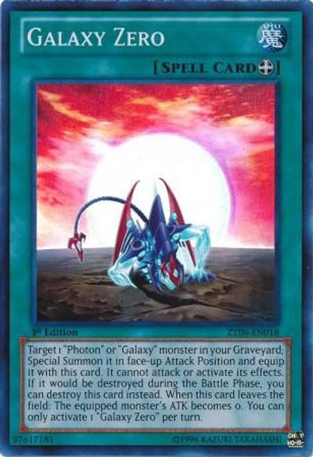 YuGiOh Trading Card Game 2013 Collector Tin Super Rare Galaxy Zero ZTIN-EN018
