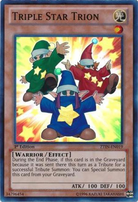 YuGiOh Trading Card Game 2013 Collector Tin Super Rare Triple Star Trion ZTIN-EN019