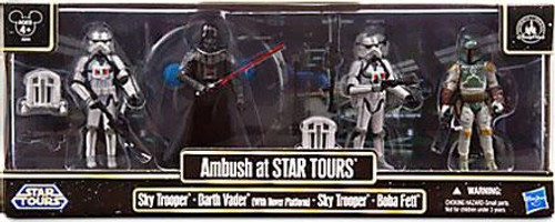 Star Wars Ambush at Star Tours Exclusive Action Figure 4-Pack [Darth Vader, Boba Fett & 2x Sky Troopers]