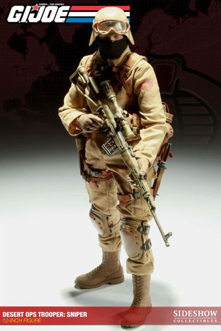 GI Joe Cobra Enemy Desert Ops Trooper: Sniper Collectible Figure