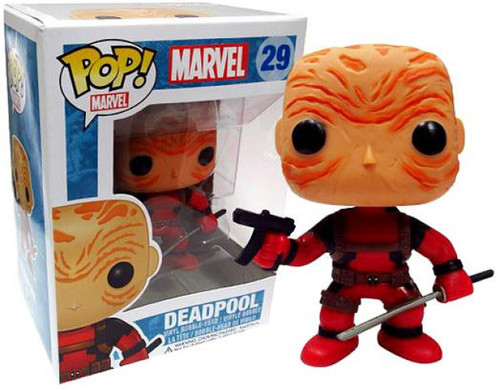Funko Marvel Universe POP! Marvel Maskless Deadpool Exclusive Vinyl Bobble Head [Red Costume]