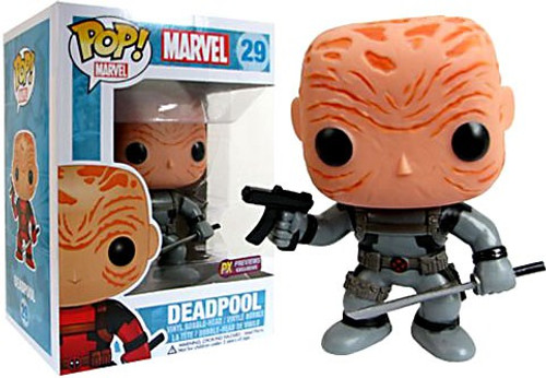 Funko Marvel Universe POP! Marvel Maskless Deadpool Exclusive Vinyl Bobble Head #29 [Gray Costume]