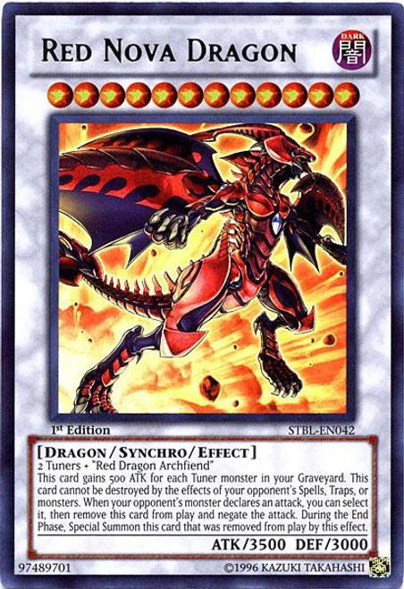 YuGiOh YuGiOh 5D's Starstrike Blast Ultra Rare Red Nova Dragon STBL-EN042