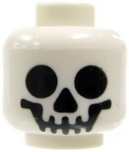 White Smiling Skull Minifigure Head [Loose]