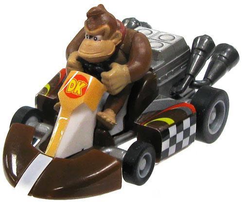 Super Mario Mario Kart Gacha Donkey Kong 1.5-Inch Pull Back Racer