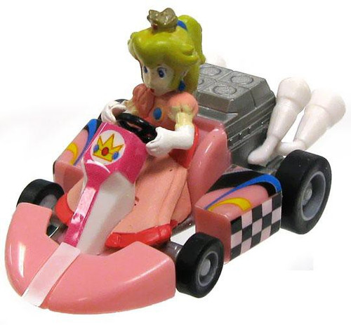 Super Mario Mario Kart Gacha Princess Peach 1.5-Inch Pull Back Racer